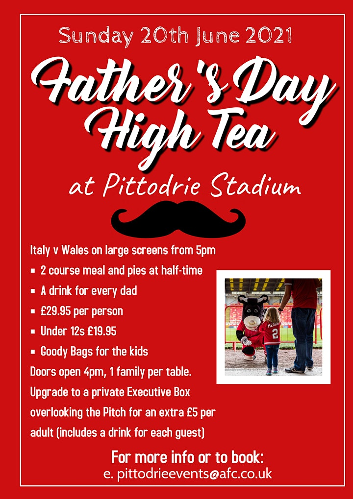 Father's Day High Tea at Pittodrie Stadium image