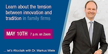 TICC.TALK with Dr. Markus Miele tickets