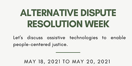 Alternative Disputes Resolution ( ADR) Week tickets
