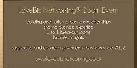 North West Leicestershire #LoveBiz Networking® Online Event tickets