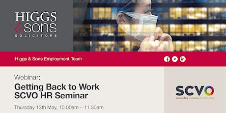 Getting Back to Work – SCVO HR Seminar tickets