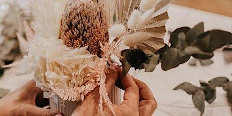Dried flower bouquet workshop tickets