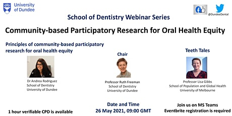 Community-based Participatory Research for Oral Health Equity tickets