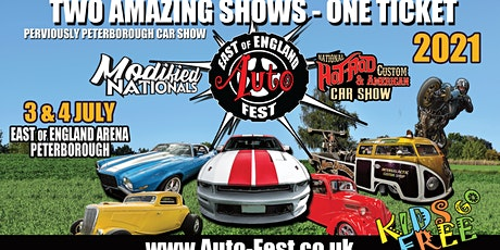 East of England AutoFest 2021, Peterborough Arena - July 3 & 4 tickets