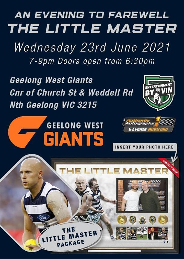 """An evening to farewell """"The Little Master"""" at Geelong West Giants Football! image"""