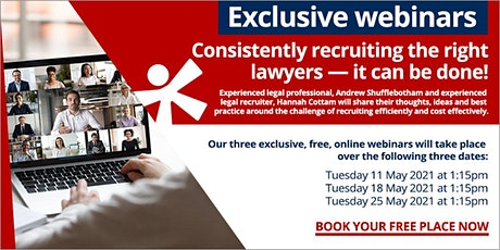 Consistently recruiting the right lawyers – it can be done! tickets