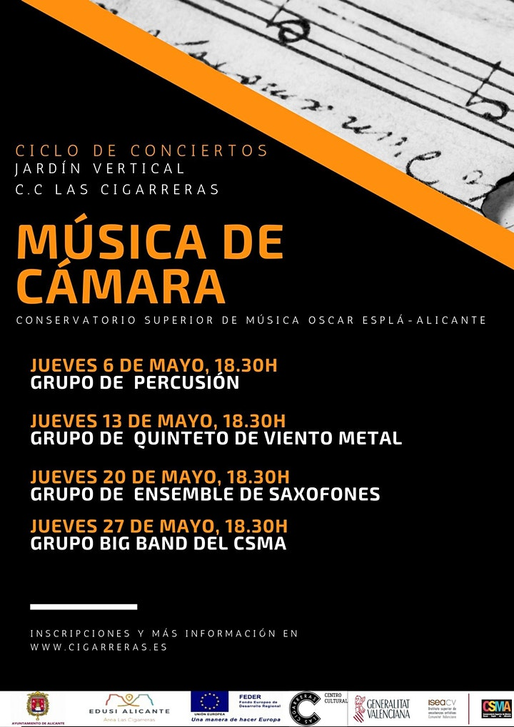 """Imagen de Ciclo conciertos """"Música de cámara"""" Jardín Vertical CC Las Cigarreras"""