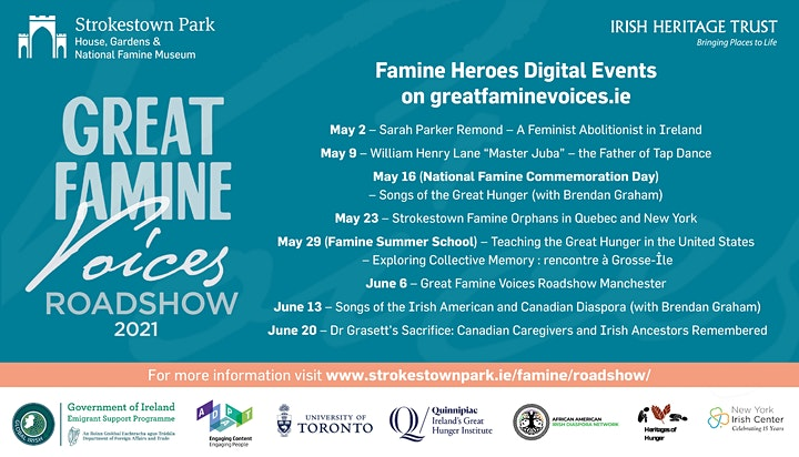 Great Famine Voices Roadshow 2021 - Manchester image