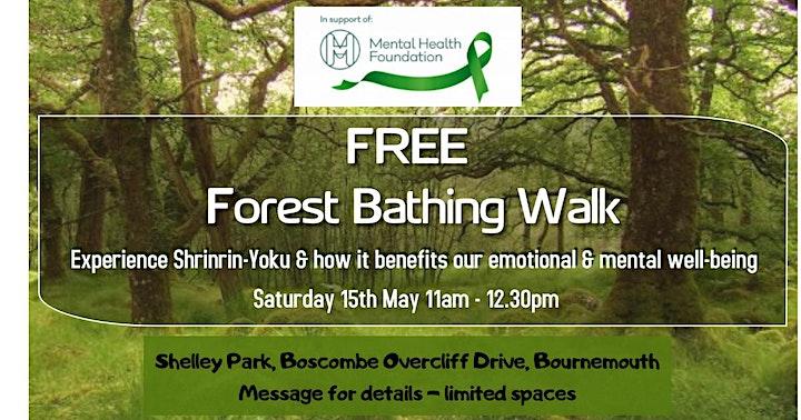 Free Forest bathing Walk for Mental Health Awareness Week image