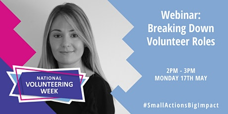 Webinar: Breaking down volunteer roles tickets