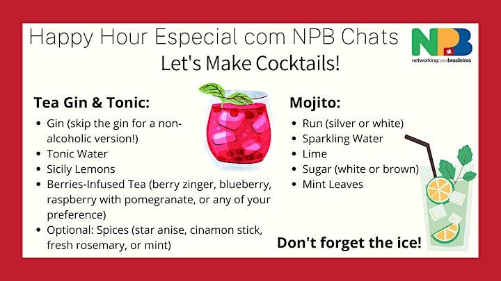 NPB Happy Hour com NPB Chats - Making cocktails (Hands On!) image