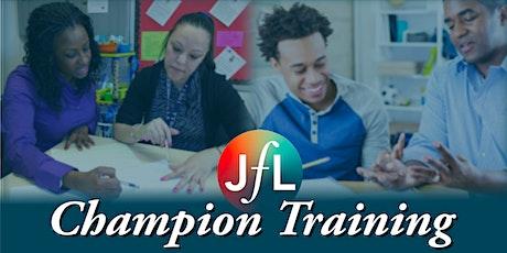 JfL Champion Training (Online) tickets