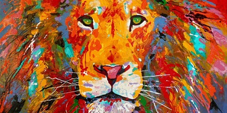 Paint and Sip at Home 'Lion' tickets