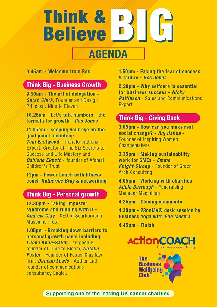 Think BIG Believe BIG online summit image