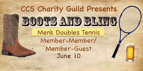 Charity Guild Boots and Bling Tennis Doubles Event - MEN'S SIGN-UP tickets