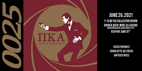 Iota Psi Chapter of Pi Kappa Alpha 25th Anniversary Cocktail Party: 0025 tickets