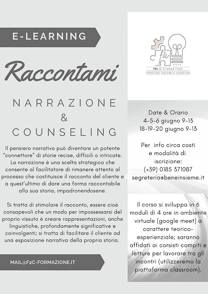 Immagine Raccontami - Narrazione e Counseling - ON LINE