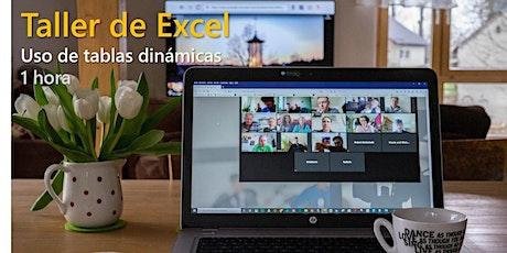 Taller de tablas dinámicas con Excel ingressos