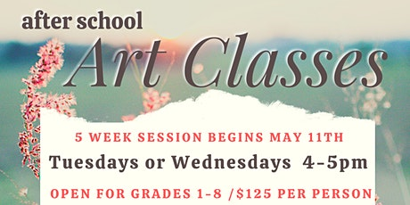 WakaDoodles After School Art Classes - session 5/May tickets