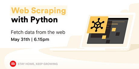 [Free workshop] Web Scraping with Python tickets