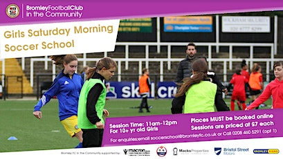 Girls Saturday Morning Soccer School: April-July 2021 tickets