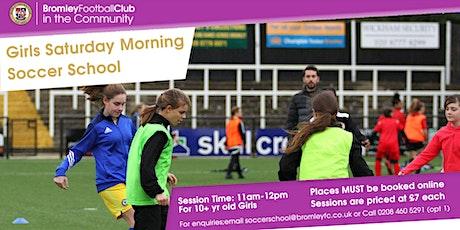 Girls Saturday Morning Soccer School: April-July 2021 tickets