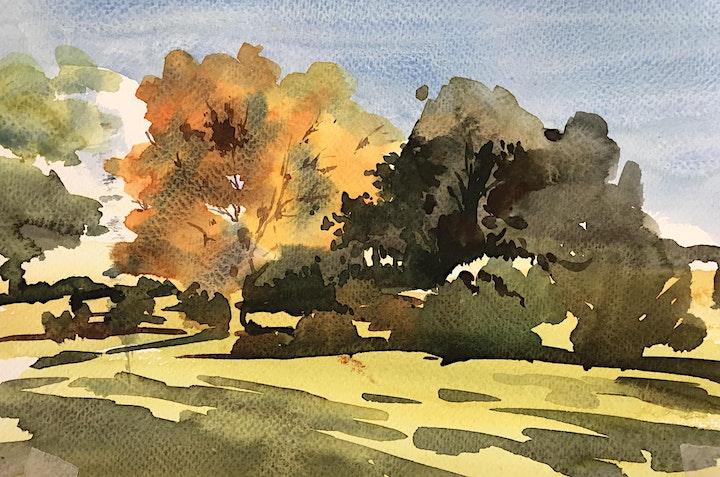 Watercolour workshop – Autumn colours with Frances Douglas image