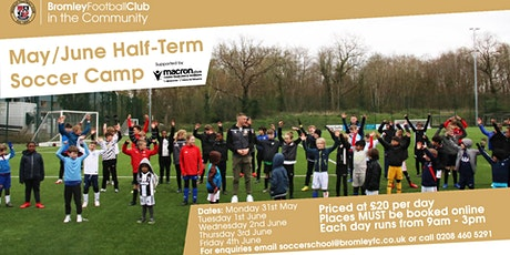 May/June Half Term Soccer Camp 2021 tickets