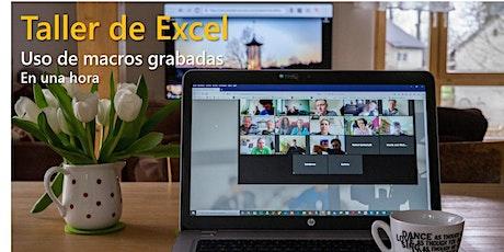 Taller de macros grabadas con Excel ingressos