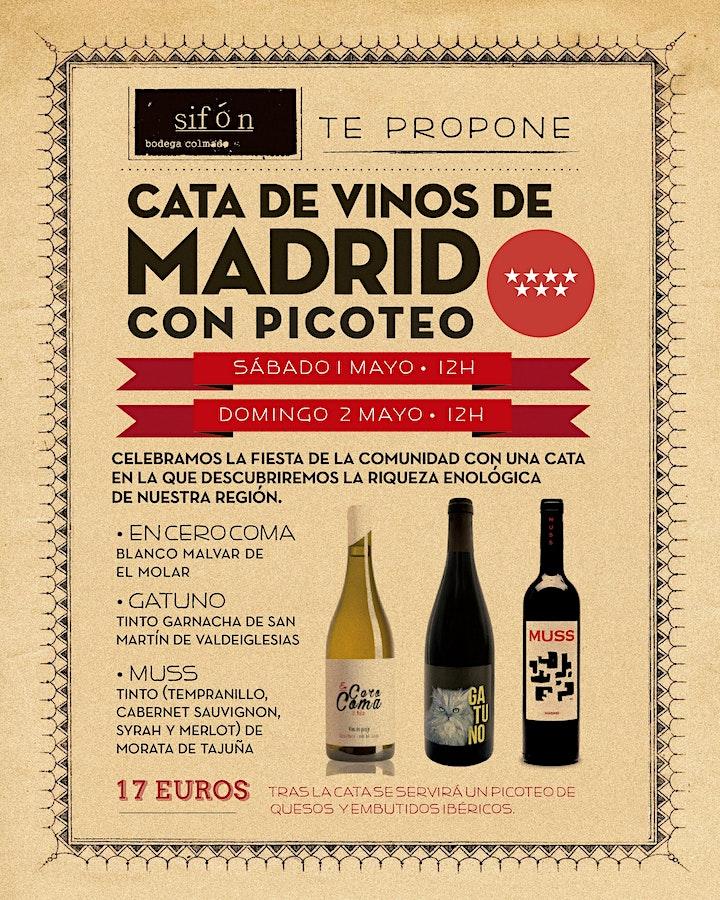Imagen de Cata de Vinos de Madrid con picoteo en Sifón - 2 de Mayo (2ª fecha)