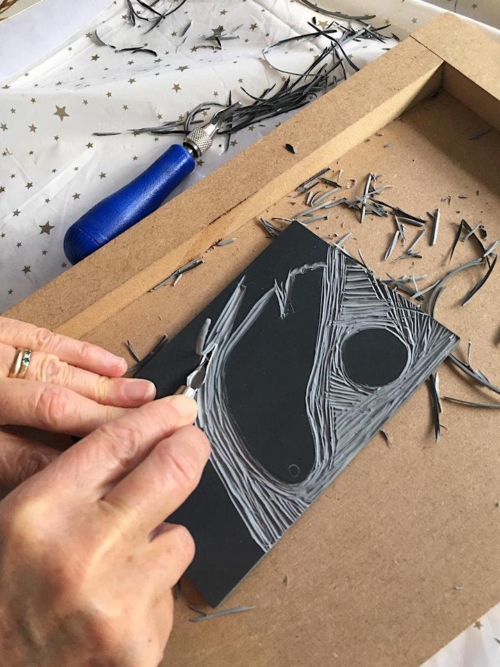 Lino Printing - Christmas theme with Jill Dow image