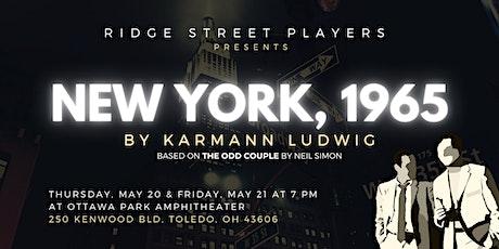 New York, 1965 Performance tickets
