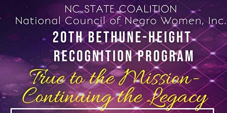 20th Annual NC State Coalition Bethune-Height Recognition Program tickets