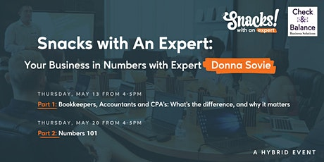 Snacks With An Expert: Your Business  in Numbers tickets