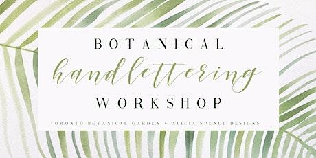 Botanical Hand Lettering Workshop ingressos