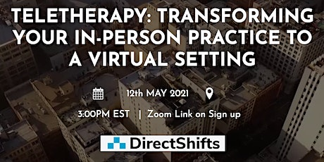 TeleTherapy: Transforming your in-person practice to a virtual setting tickets