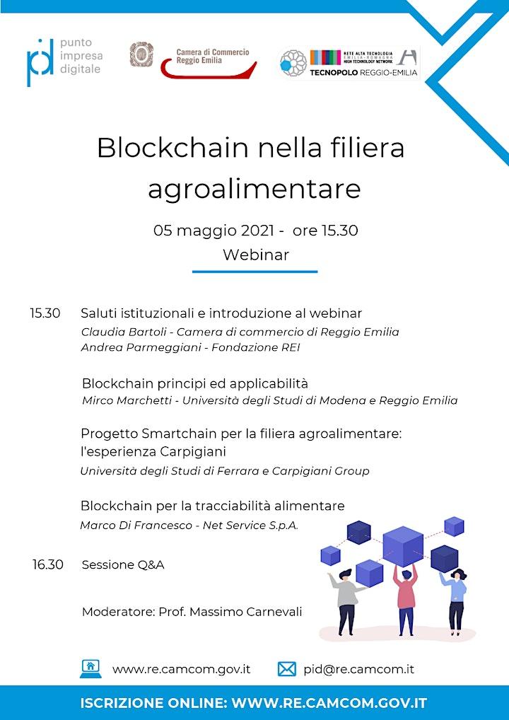 """Immagine WEBINAR """"BLOCKCHAIN NELLA FILIERA AGROALIMENTARE"""" – 05 MAGGIO 2021"""