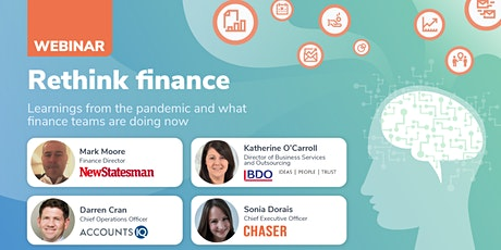 Rethink finance: pandemic learnings and what finance teams are doing now tickets