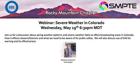 SMPTE Rocky Mountain & SBE-48: Severe Weather In Colorado tickets