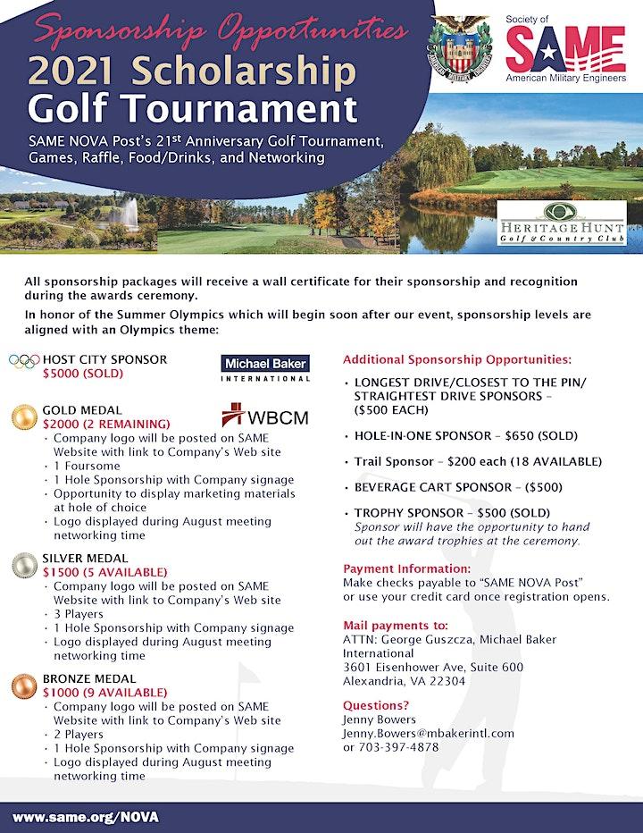 SAME NoVA Post 21st  Anniversary  Golf Tournament image