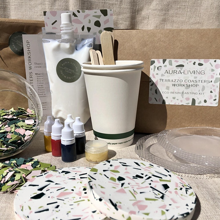 Introduction to Terrazzo: Make your own coasters! image