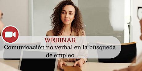 Webinar - Comunicación no verbal en la búsqueda de empleo entradas