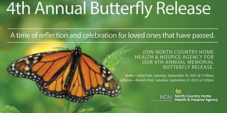 LITTLETON - 4th Annual Butterfly Release  {9.25.21} tickets