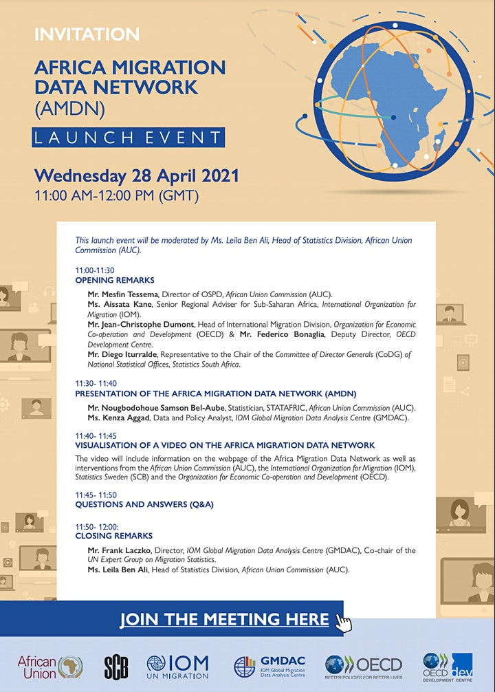 Africa Migration Data Network (AMDN) - Online Launch Event image