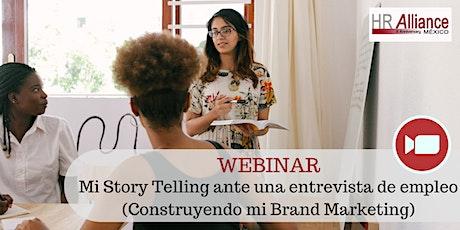 Webinar - Mi Story Telling ante una entrevista de empleo entradas
