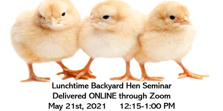 May  Lunchtime Duval County Backyard Hen training tickets