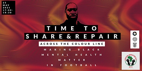 Time to share, race and mental health in Football. tickets
