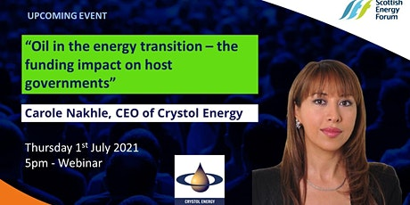 """""""Oil in the energy transition – the funding impact on host governments"""" tickets"""