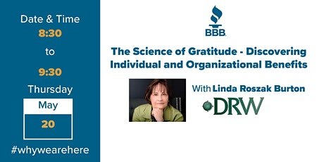The Science of Gratitude–Discovering Individual and Organizational Benefits tickets