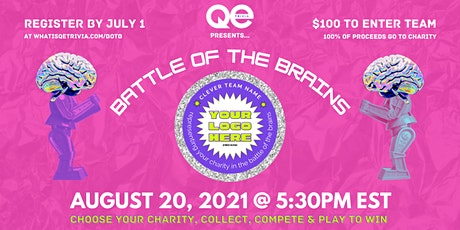 Battle of the Brains Charity Fundraiser hosted by QE Trivia tickets